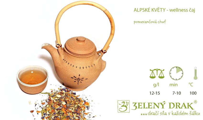 ALPSKÉ KVĚTY - BIO wellness čajj - příprava