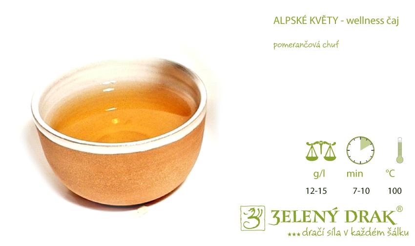 ALPSKÉ KVĚTY - BIO wellness čaj - nálev