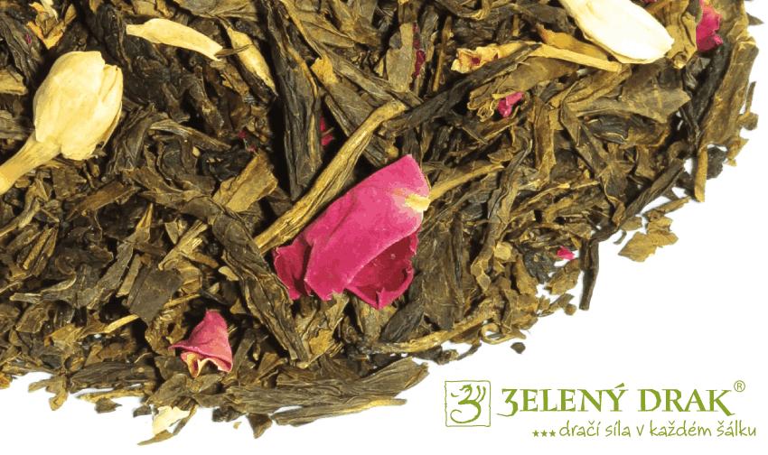 Andělský šepot zelený čaj vzhled