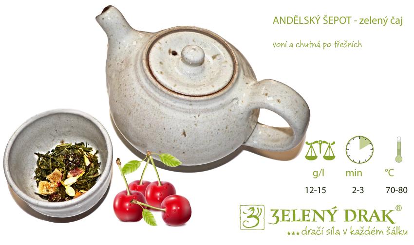 Andělský šepot zelený čaj - příprava