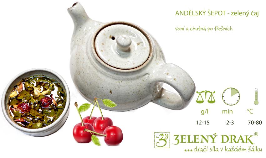 Andělský šepot zelený čaj - nálev