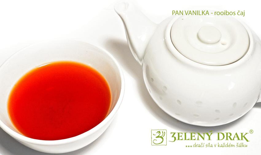 PAN VANILKA - rooibos čaj - nálev