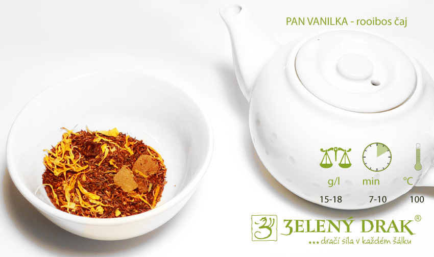 PAN VANILKA - rooibos čaj - příprava