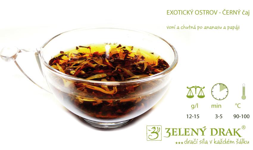 Exotický ostrov černý čaj - nálev